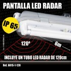 LED radar waterproof lighting fixture