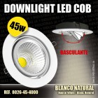 Downlight Led COB Basculante